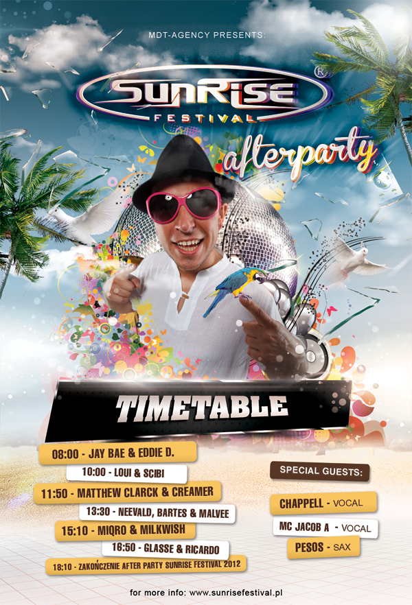Timetable Afterparty 2012, Quelle: sunrisefestival.pl